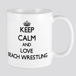 Keep calm and love Beach Wrestling Mugs