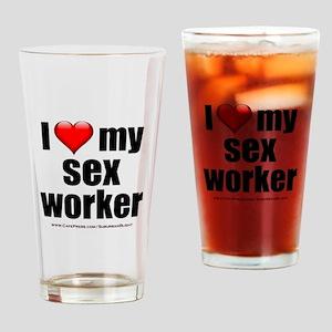 """Love My Sex Worker"" Drinking Glass"