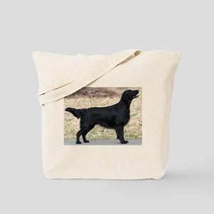 flat coated retriever black full Tote Bag