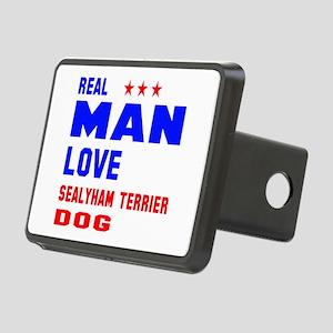 Real Man Love Sealyham Ter Rectangular Hitch Cover