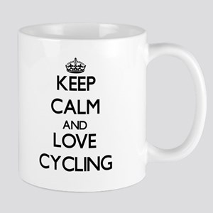 Keep calm and love Cycling Mugs