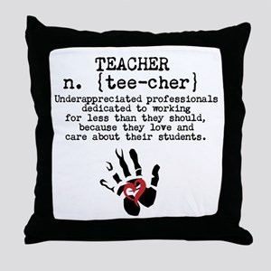 Teacher. Throw Pillow