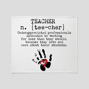 Teacher. Throw Blanket