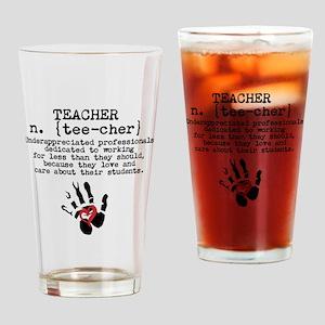 Teacher. Drinking Glass