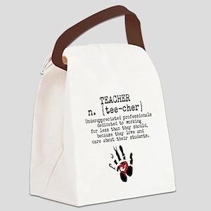 Teacher. Canvas Lunch Bag