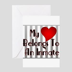 Heart Belongs to Inmate Greeting Cards (Package of