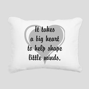 Big heart, little minds. Rectangular Canvas Pillow