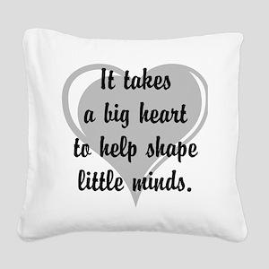 Big heart, little minds. Square Canvas Pillow