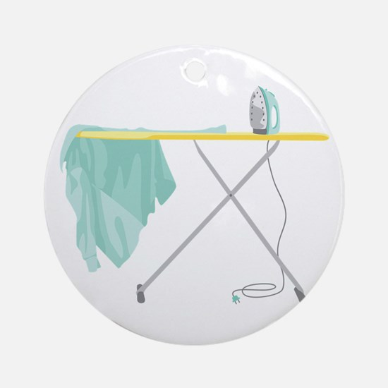 Ironing Board Ornament (Round)