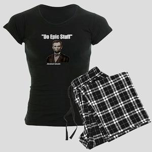 Do Epic Stuff Abraham Lincol Women's Dark Pajamas