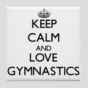 Keep calm and love Gymnastics Tile Coaster