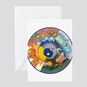 Healing Circle - white Greeting Cards