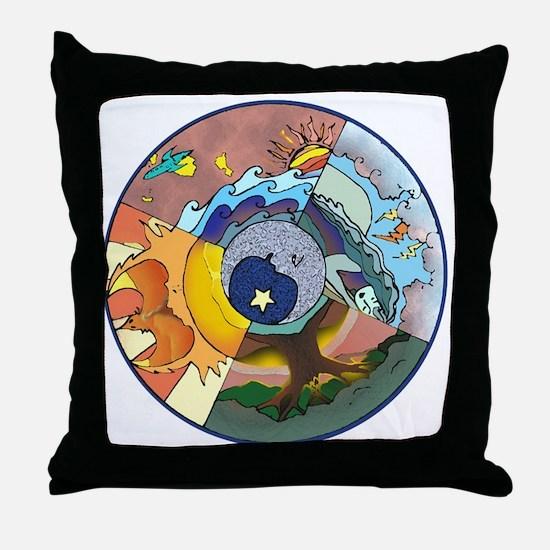 Healing Circle - white Throw Pillow