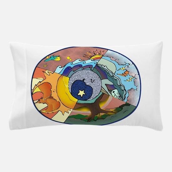 Healing Circle - white Pillow Case