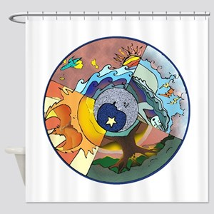 Healing Circle - white Shower Curtain