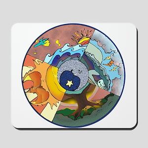 Healing Circle - white Mousepad