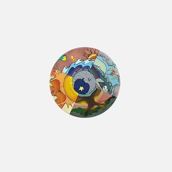 Healing Circle - white Mini Button