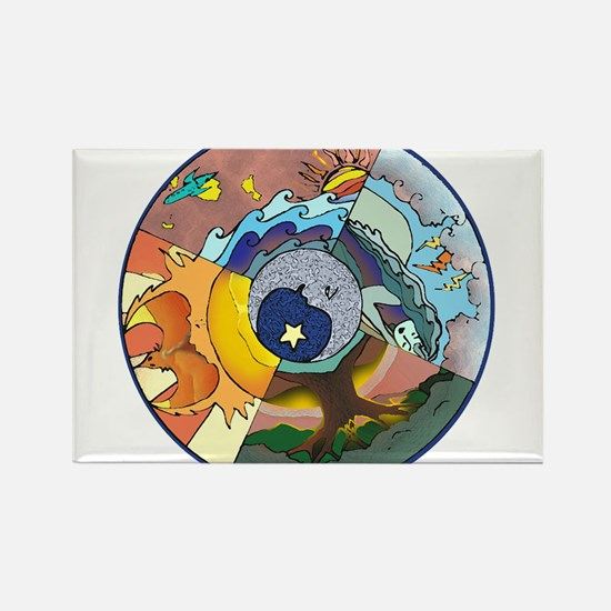 Healing Circle - white Magnets