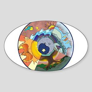 Healing Circle - white Sticker