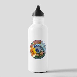 Healing Circle - white Water Bottle