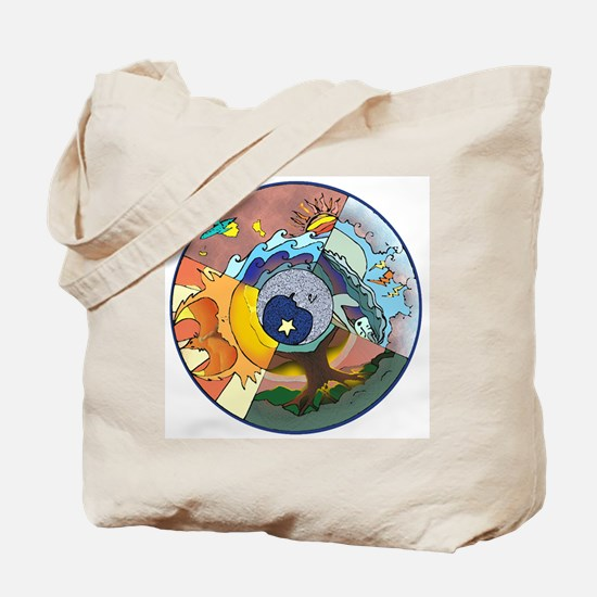 Healing Circle - white Tote Bag
