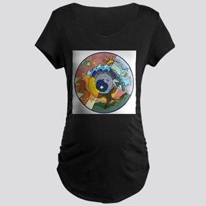 Healing Circle - white Maternity T-Shirt