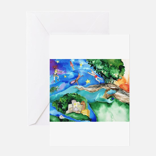 Dreaming. Greeting Cards