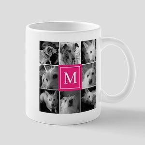 Photo Block with Rose Monogram Mugs