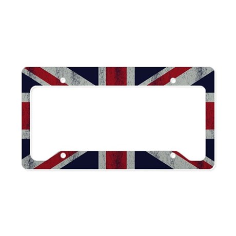 British UK Flag Union Jack Gr License Plate Holder
