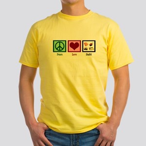 Peace Love Sushi Yellow T-Shirt