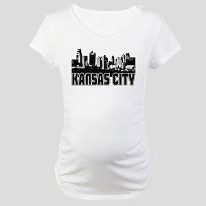 Kansas City Skyline Maternity T-Shirt