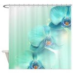 Blue Orchids Shower Curtain