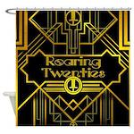 Roaring Twenties Gold And Black Shower Curtain