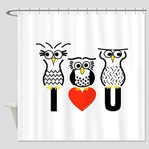 Say it with Owls Shower Curtain