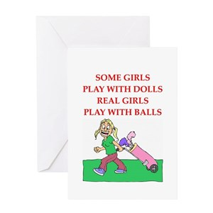 Funny golf greeting cards cafepress m4hsunfo