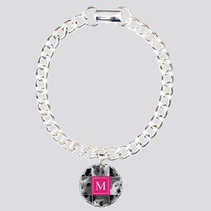 Photo Block with Rose Monogram Bracelet