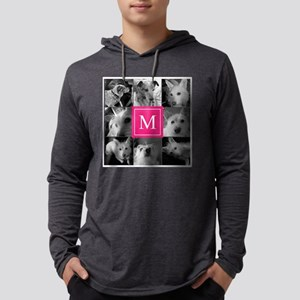 Photo Block with Rose Monogram Long Sleeve T-Shirt