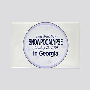 Snowcopalypse in Georgia Magnets