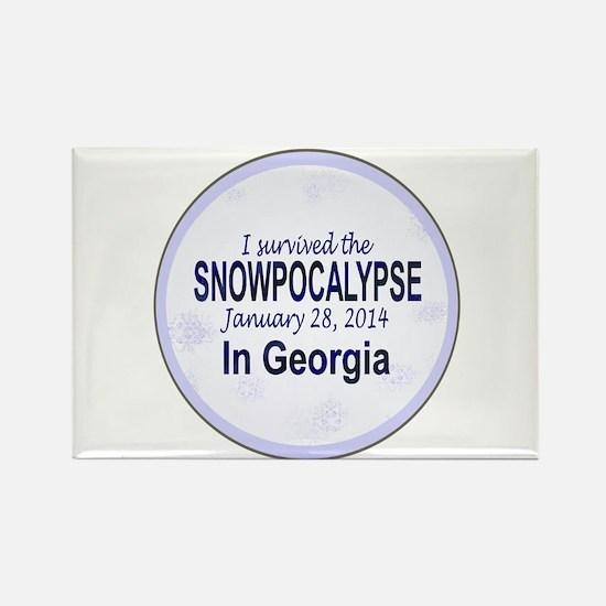 Snowcopalypse in Georgia Magnets