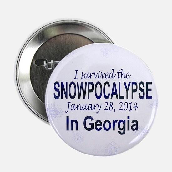 """Snowcopalypse in Georgia 2.25"""" Button"""