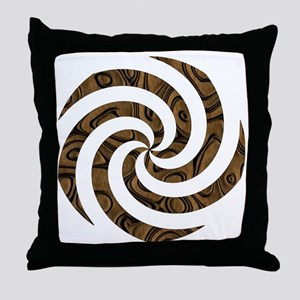 LEATHER LOOK SWIRL Throw Pillow