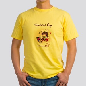 Best Part of Valentine's Day Yellow T-Shirt