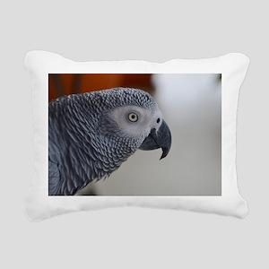 Congo African Grey Parro Rectangular Canvas Pillow