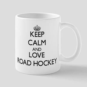 Keep calm and love Road Hockey Mugs