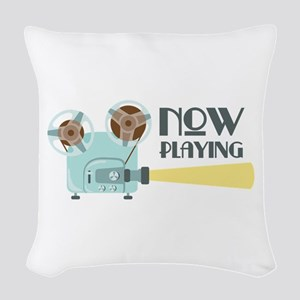 Now Playing Woven Throw Pillow