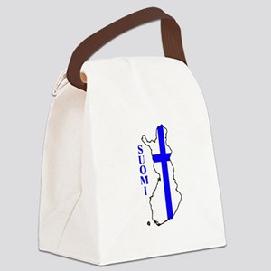 FinnFlagMap Canvas Lunch Bag