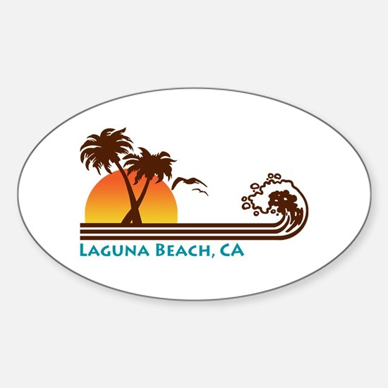 Laguna Beach Oval Decal