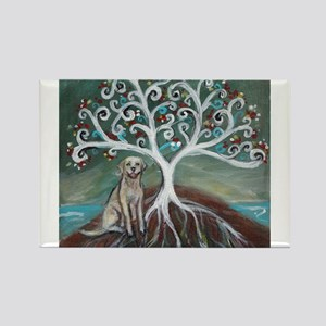 Yellow Labrador Tree of Life Magnets