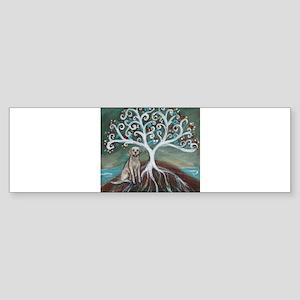 Yellow Labrador Tree of Life Bumper Sticker