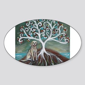 Yellow Labrador Tree of Life Sticker